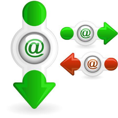 E-mail icon set for web. Stock Photo - 8238219
