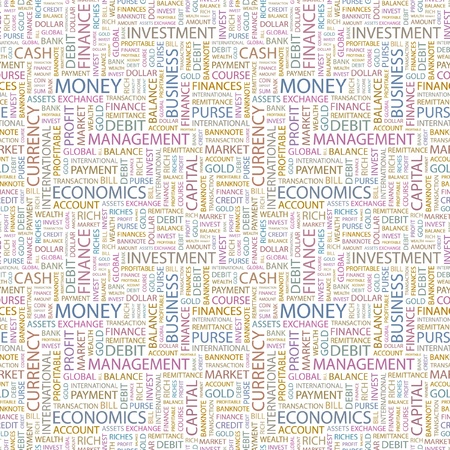 MONEY. Seamless vector pattern with word cloud. Illustration with different association terms.   Stock Vector - 9194185