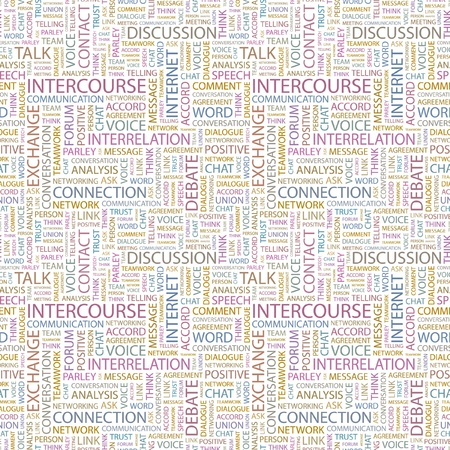 INTERCOURSE. Seamless vector background. Wordcloud illustration. Illustration with different association terms. Stock Vector - 9128400