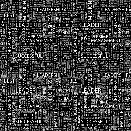 LEADER. Seamless vector pattern with word cloud. Illustration with different association terms. Stock Vector - 9131227