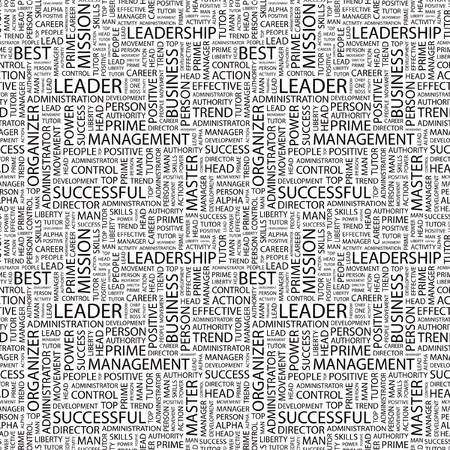 kingpin: LEADER. Seamless vector pattern with word cloud. Illustration with different association terms.   Illustration