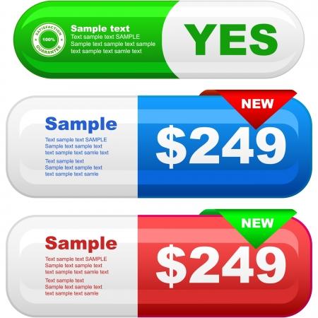 sales representative: Set of design elements for sale.