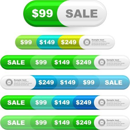 genuine good: Set of design elements for sale.