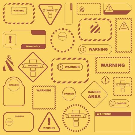 Warning vector signs. Vector template. Stock Vector - 8890702