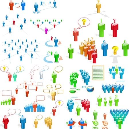 social issues: Concetto di business team. Grande collezione.
