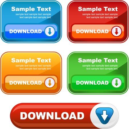 Download banner set. Vector instellen voor webserver.   Vector Illustratie