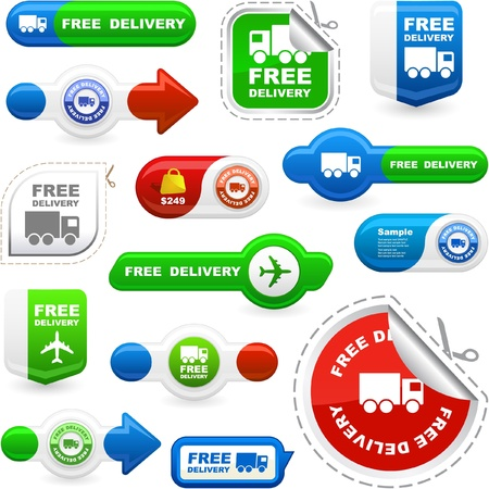 ship package: Free delivery elements for sale