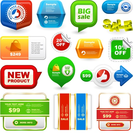 Various sale design elements   Vector