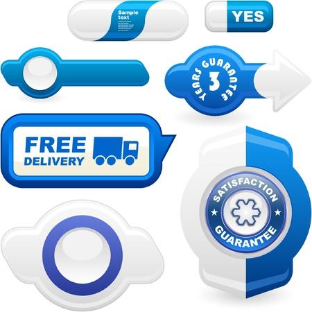 web commerce: Insieme di elementi Web. Insieme vettoriale. Vettoriali