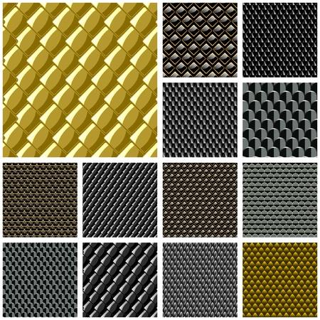 tile roof: Placca di metallo senza soluzione di continuit�. Grande raccolta di Vector.