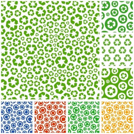 environnement entreprise: Contexte de recyclage sans soudure. Vecteur pattern.