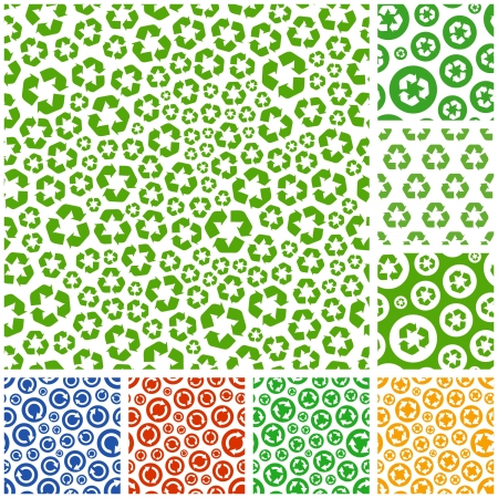 environmental safety: Seamless recycle background. Vector pattern.
