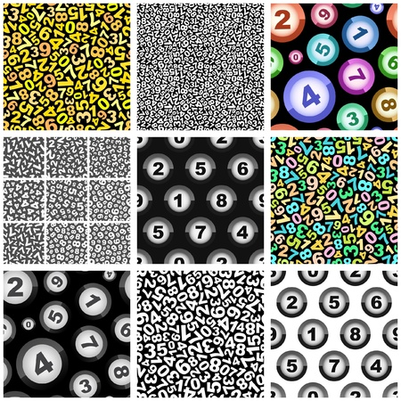 textile industry: Seamless background with numbers    Illustration