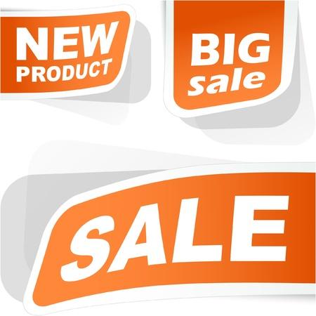 promo: Set per la vendita di adesivi.