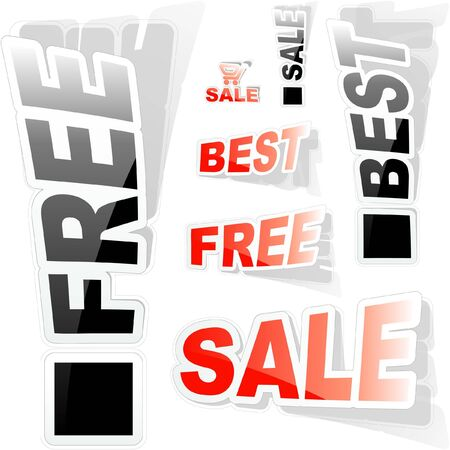 Vector set of sale signs Stock Vector - 8890726
