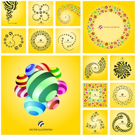 artwork backdrop: Abstract background with circle elements.   Illustration