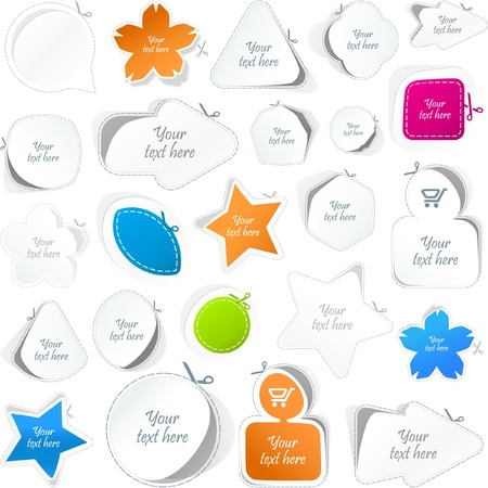 Stickers. Great collection. Stock Vector - 8890761