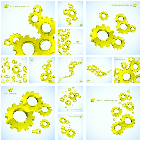 Vector gear background. Great collection. Vector
