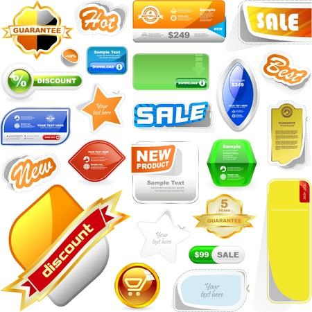 bid: conjunto de elementos de dise�o de venta   Vectores