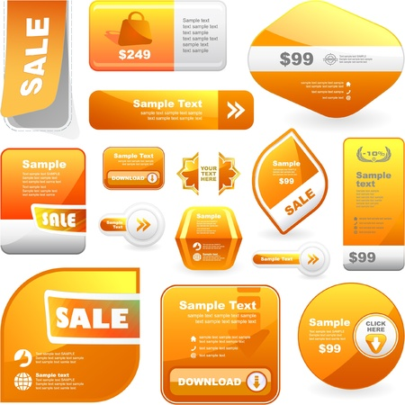 Vector set of sale banner. Great collection. Stock Vector - 8890769