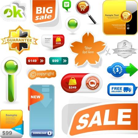 promo: insieme di elementi di design di vendita