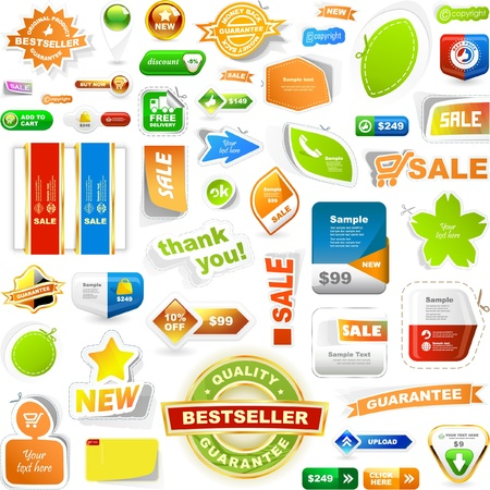 Various sale design elements. Great collection. Stock Vector - 9024645