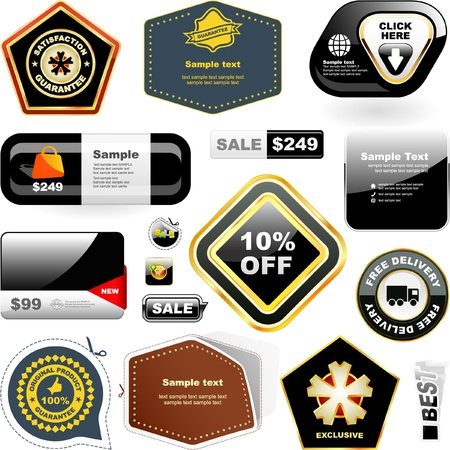 Vector collection of sale signs    Vector
