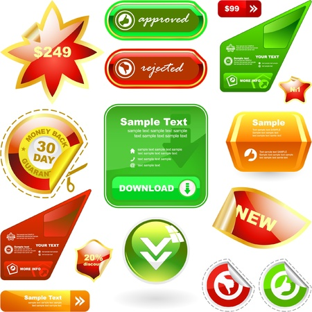 Vector set of web elements. Great collection. Stock Vector - 9024642