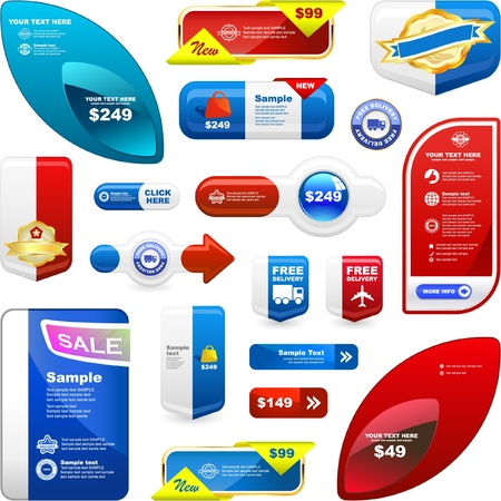Various sale design elements. Great collection Vector