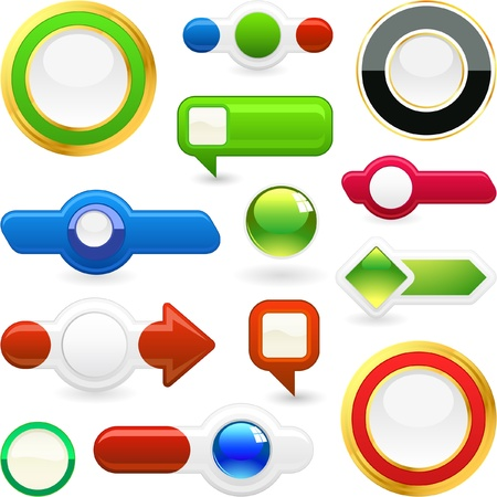 flecha derecha: Vector conjunto de elementos web. Gran colecci�n. Vectores