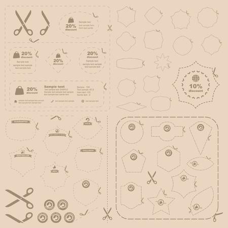 ciach: Nożyczki wektorowych z Wytnij wiersze szablonów formularzy   Ilustracja