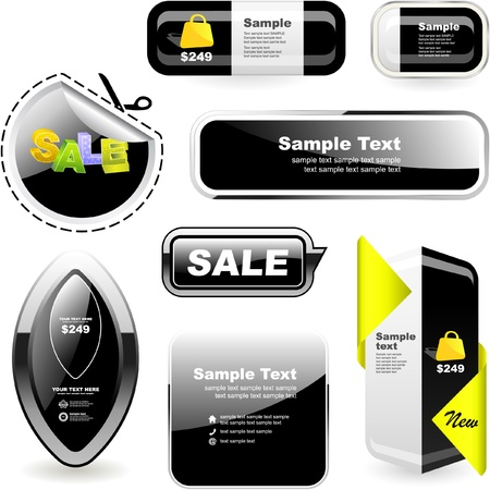 clean off: set of sale design elements   Illustration