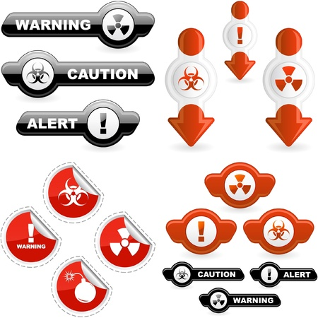 infected: Warning vector signs.
