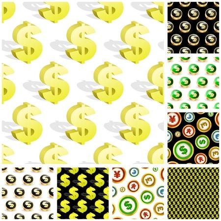 Dollar. Seamless pattern. Stock Vector - 9196658
