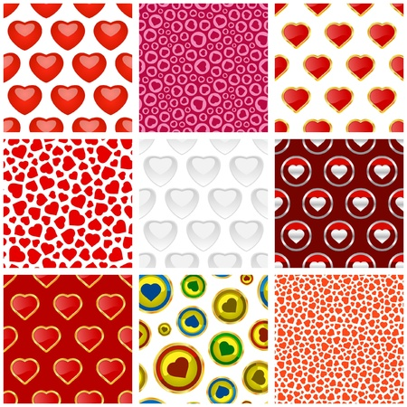 Seamless background with hearts.    Vector