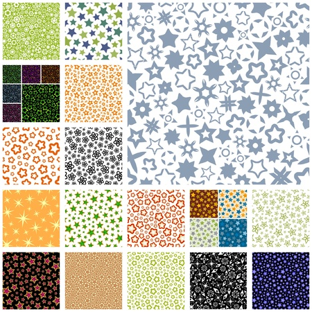 Seamless background with different stars. Stock Vector - 9196666