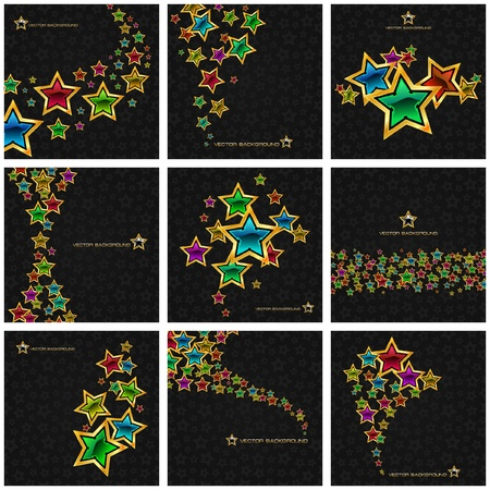 star burst christmas: Abstract background with stars. Vector illustration.   Illustration