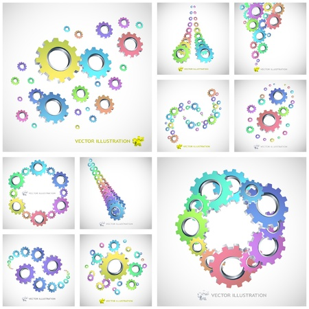 Vector gear background. Abstract illustration.   Stock Vector - 9196667