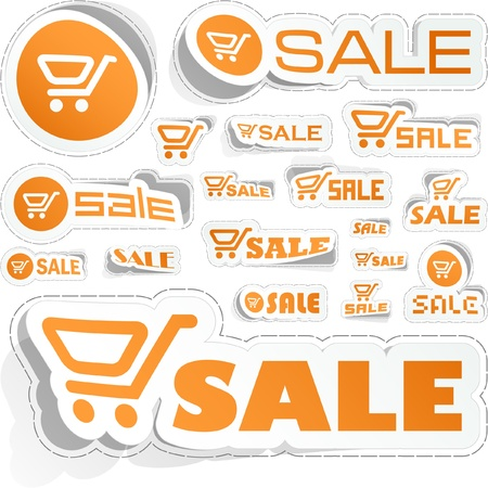 Shopping cart. Great collection. Vector