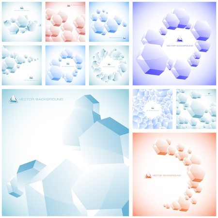 Abstract hexagon background. Great collection. Stock Vector - 8890759