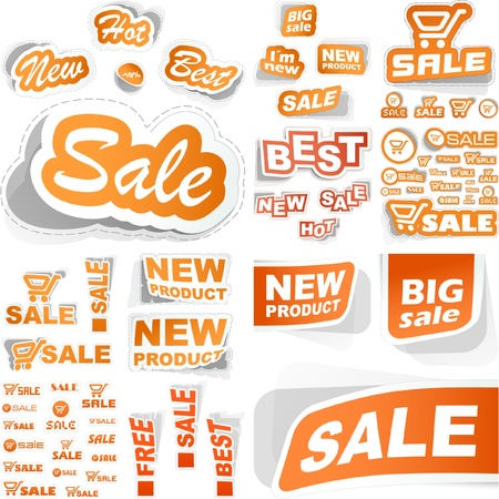 SALE. Sticker great collection. Vector