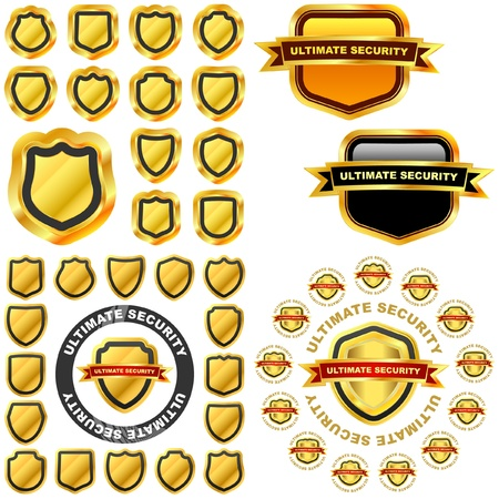 Vector shield collection for design. Vector