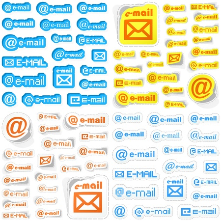 Email. Sticker set. Stock Vector - 9392465