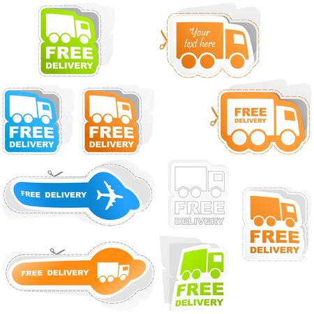 Free delivery elements for sale Stock Vector - 8890730