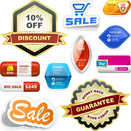 guarantee label set. Stock Vector - 9392462