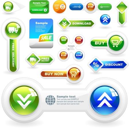 Colección de vector de elementos web