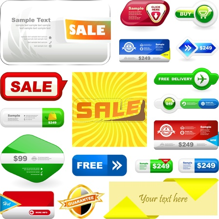 promo: Vari elementi di design di vendita