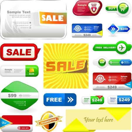 rebate: Various sale design elements