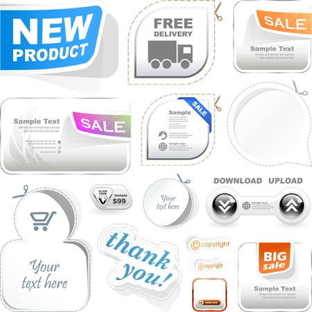 ecommerce icons: Vector label templates. Great collection.