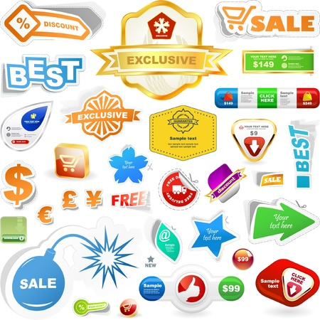 Vaus sale design elements. Great collection. Stock Vector - 9142060